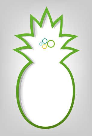pineapple: creative poster template  green pineapple