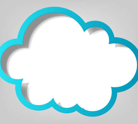 creative poster template  blue cloud Illustration