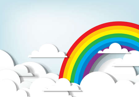 applique  Rainbow and clouds Stock Vector - 15144302