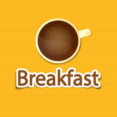 poster met de woorden ontbijt Stock Illustratie