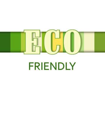 creative  poster Eco friendly Stock Vector - 15144242