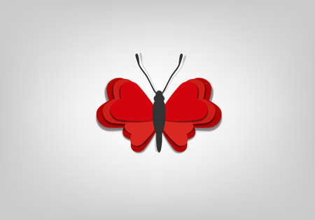 background with a creative paper butterfly Vector