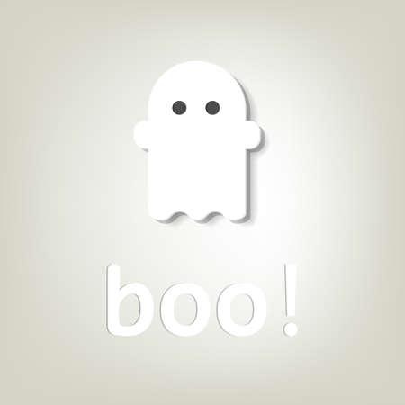 creatieve poster voor Halloween spookje Stock Illustratie