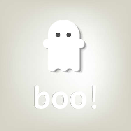 creative poster for Halloween  little ghost