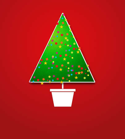 Creative Christmas tree card Stock Vector - 15144383