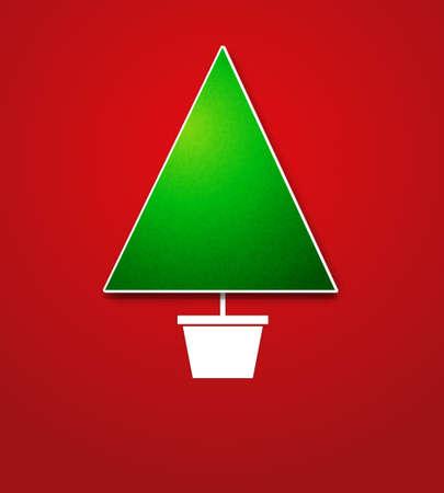Creative Christmas tree card Stock Vector - 15144381