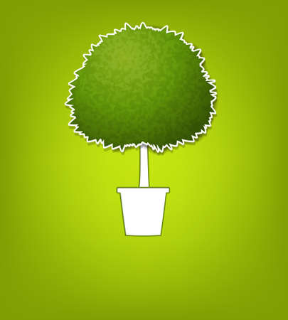 green tree in a pot Stock Vector - 15144378