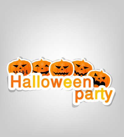 Halloween party label Vector