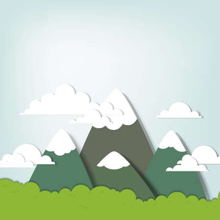 Mountain landscape Stock Vector - 15144382