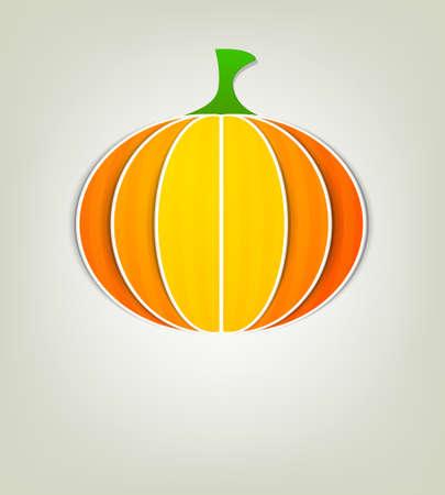 Pumpkin of paper Stock Vector - 15144380