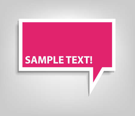 banner design: pink speech bubble Illustration