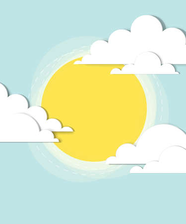 sun in the clouds   creative vector poster Vector