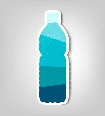 water sport: bottle of water  vector poster
