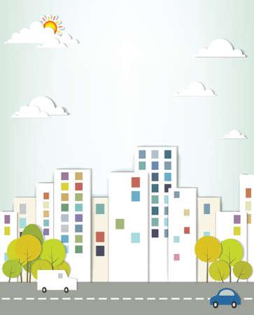 stedelijk landschap creatieve vector applique
