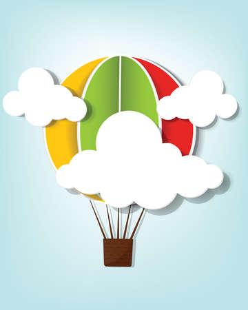 hete lucht ballon in de lucht