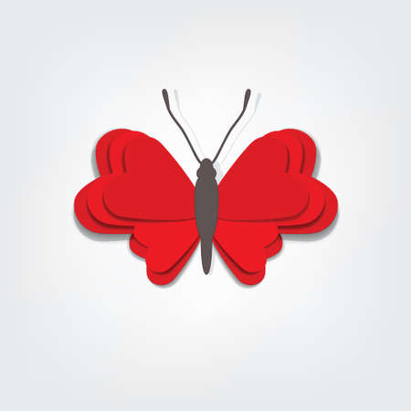 red vector butterfly Stock Vector - 17843273
