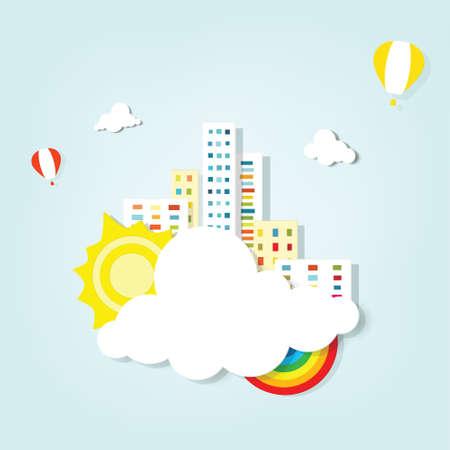 vector banner  cityscape Illustration
