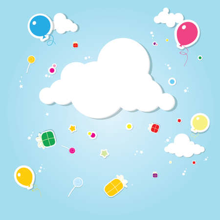 funny cloud. rain of gifts Stock Vector - 17843266