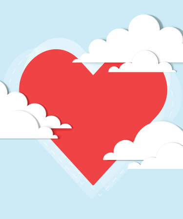 heart in the clouds Stock Vector - 17843288