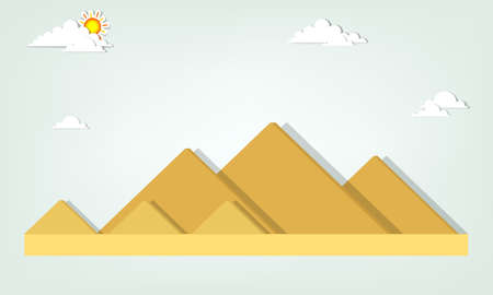 landscape with the Egyptian pyramids Vector