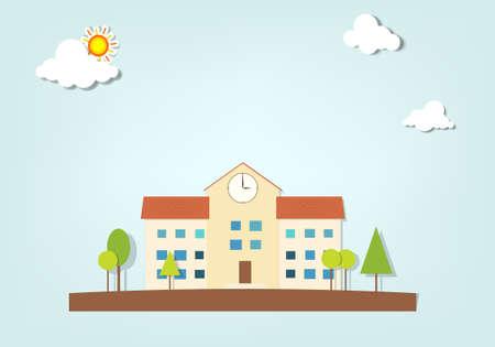 school house: escuela Vectores
