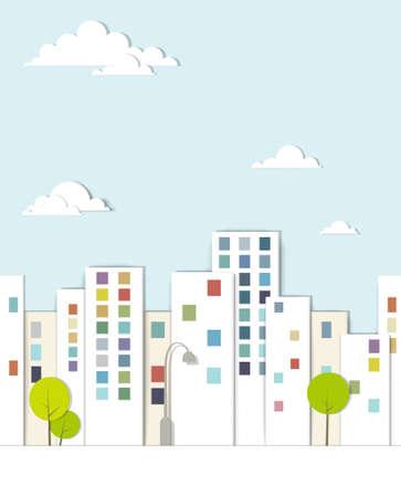 stedelijk landschap Stock Illustratie