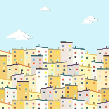 housing development: housing estate Illustration