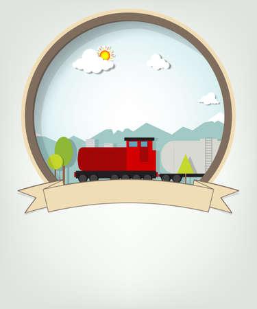 emblem with train Vector