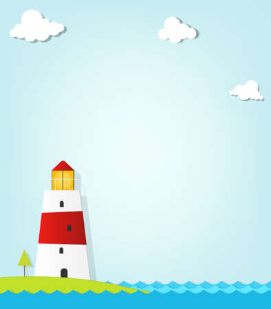 lighthouse on the coast Vector