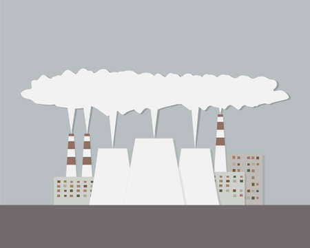 smoke stack: Nuclear power plant