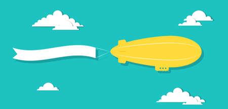 luftschiff: das Luftschiff mit Klebeband