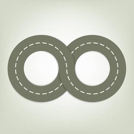 recurrence: asphalted road Illustration