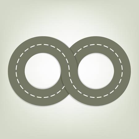 asphalted road Illustration