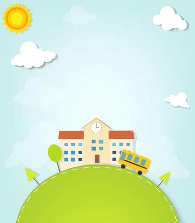 escuela edificio: vector de la escuela