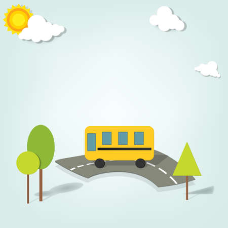 schoolbus: vector school bus