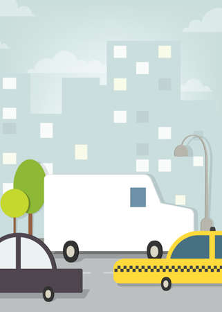 city traffic Vector
