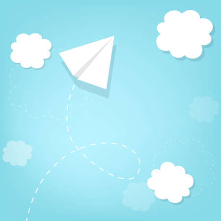 paper airplane: paper airplane