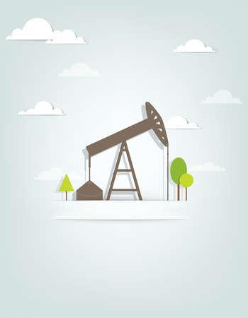 oil well: oil pump Illustration