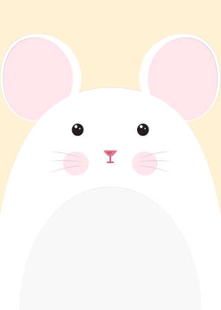 cute mouse: close-up mouse Illustration