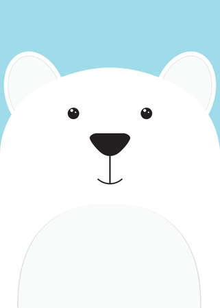 close-up of the muzzle Bear Illustration