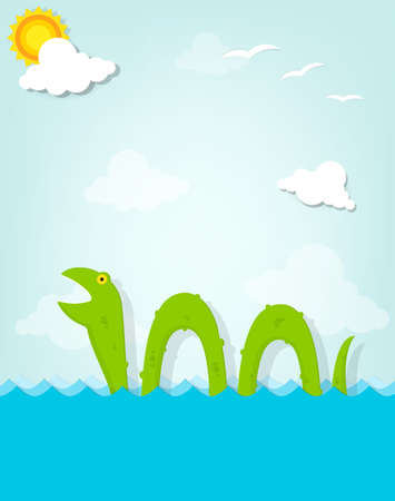 sea monster Vector