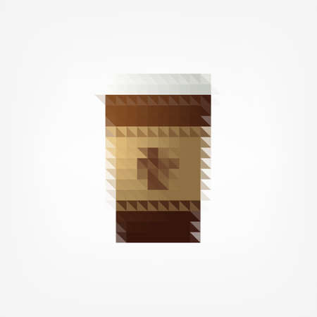 pixel coffee cup Vector