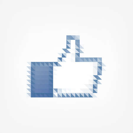pixel thumb up icon Vector