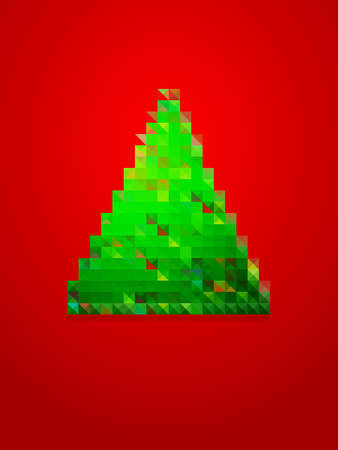 pixel christmas tree Vector
