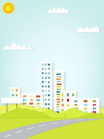 paper urban landscape