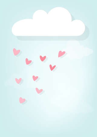 Rain of hearts Vector