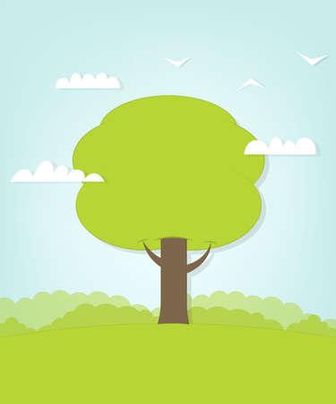 glade: tree on glade