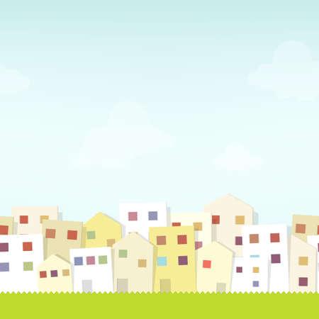 burg: seamless urban landscape. cutout illustration Illustration