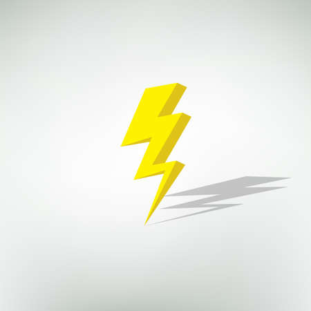 lightning strike: lightning icon. vector illustration Illustration