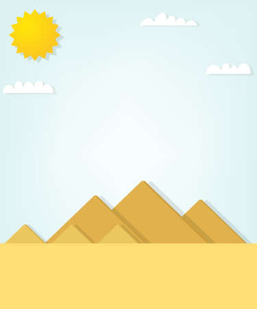 cheops: vector landscape with the Egyptian pyramids. Illustration